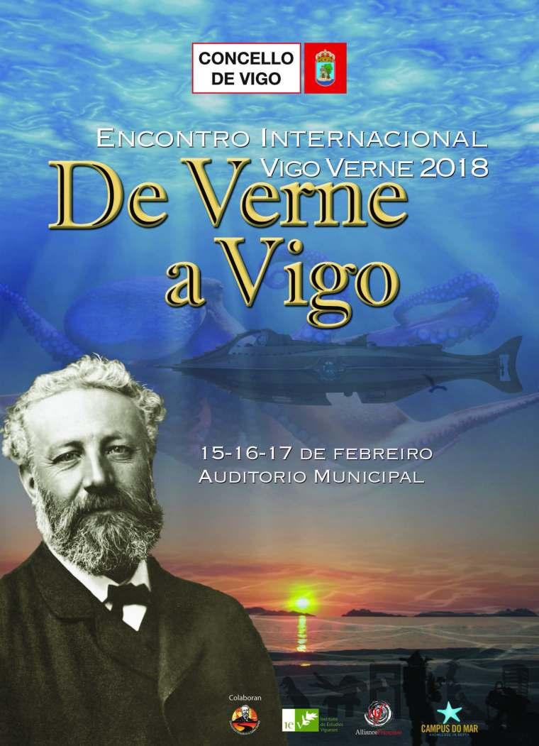 Cartel Encontro Internacional Jules Verne Vigo